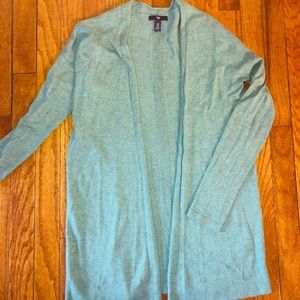 GAP Open Knit Cardigan in Seafoam
